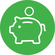 Innovation icon - piggy bank