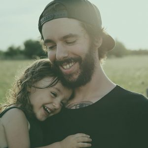 Young father with daughter