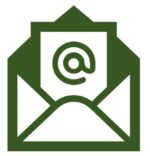 icon of an envelope with an @ inside