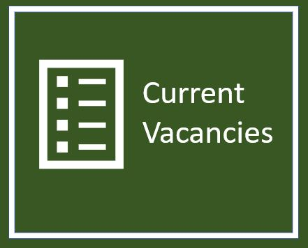 a green square with the words current vacancies and a icon of a file structure to indicate a list